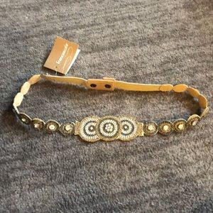NWT Francesca's Gold Sparkle Belt